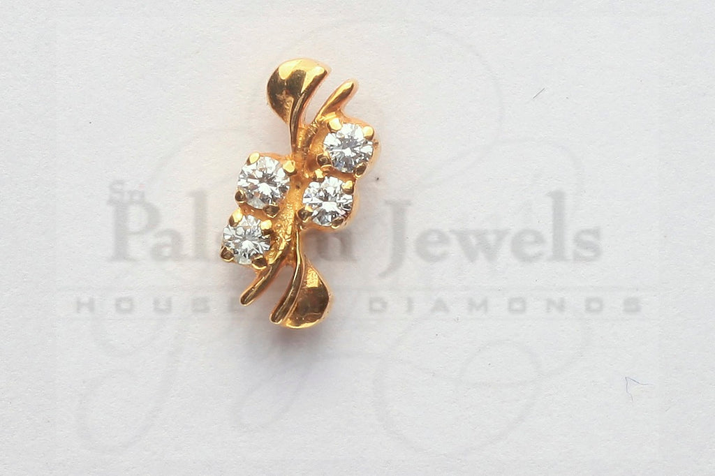 Fancy Leaflet Diamond Studs