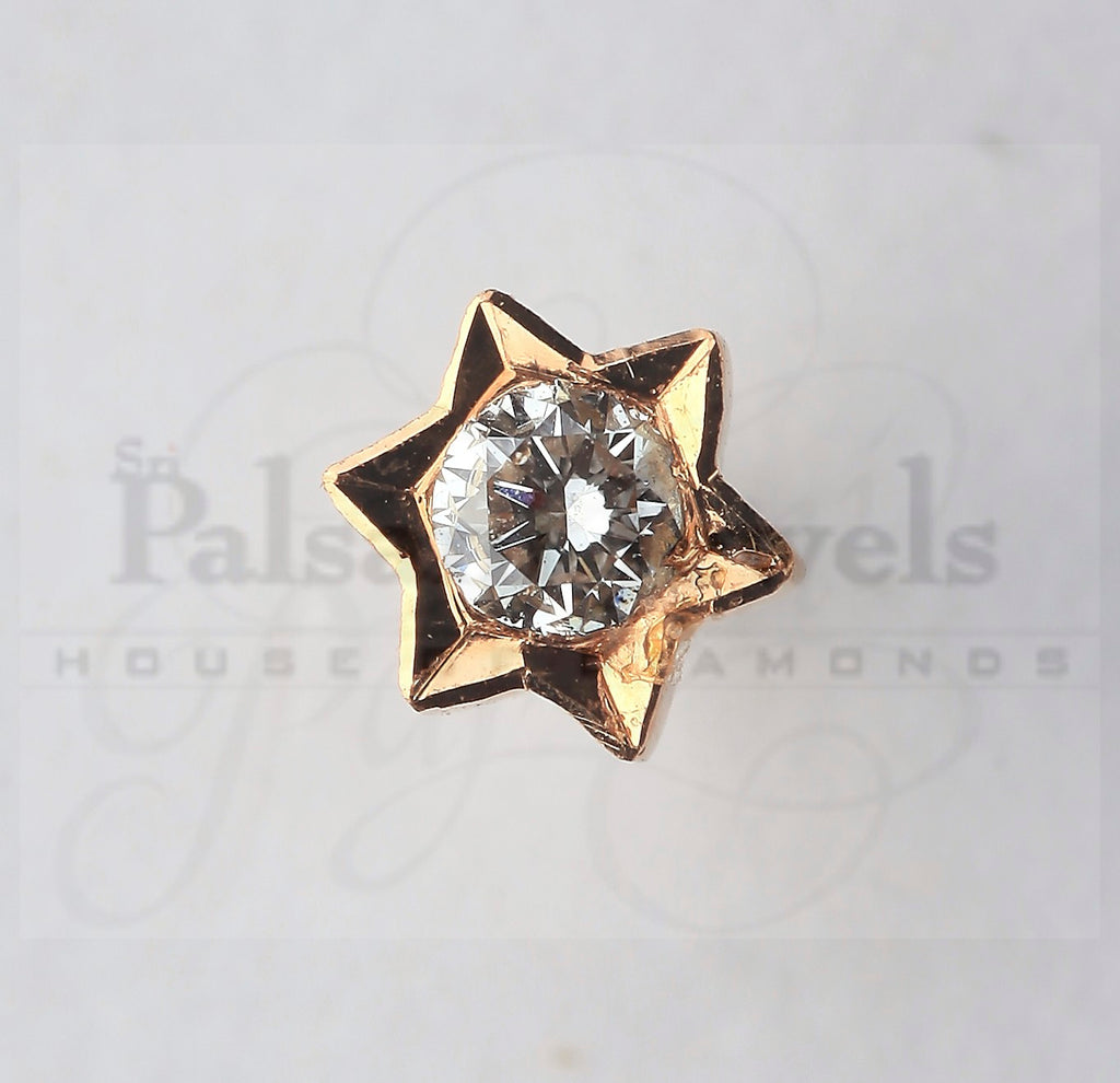 Sun Shaped Diamond Nose Pin
