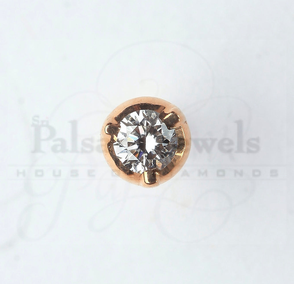 Circular Stone Diamond Nose Pin