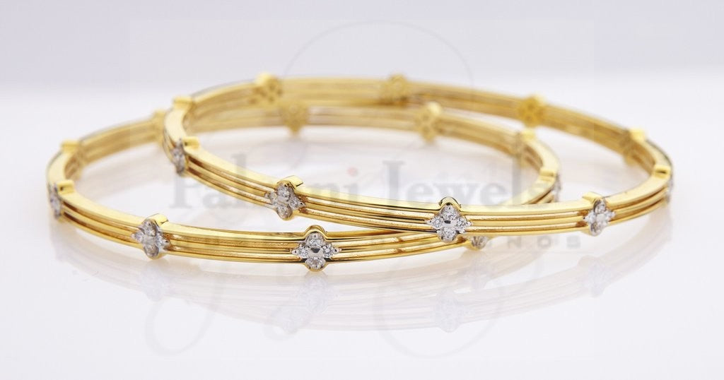 Luminous Diamond Bangles