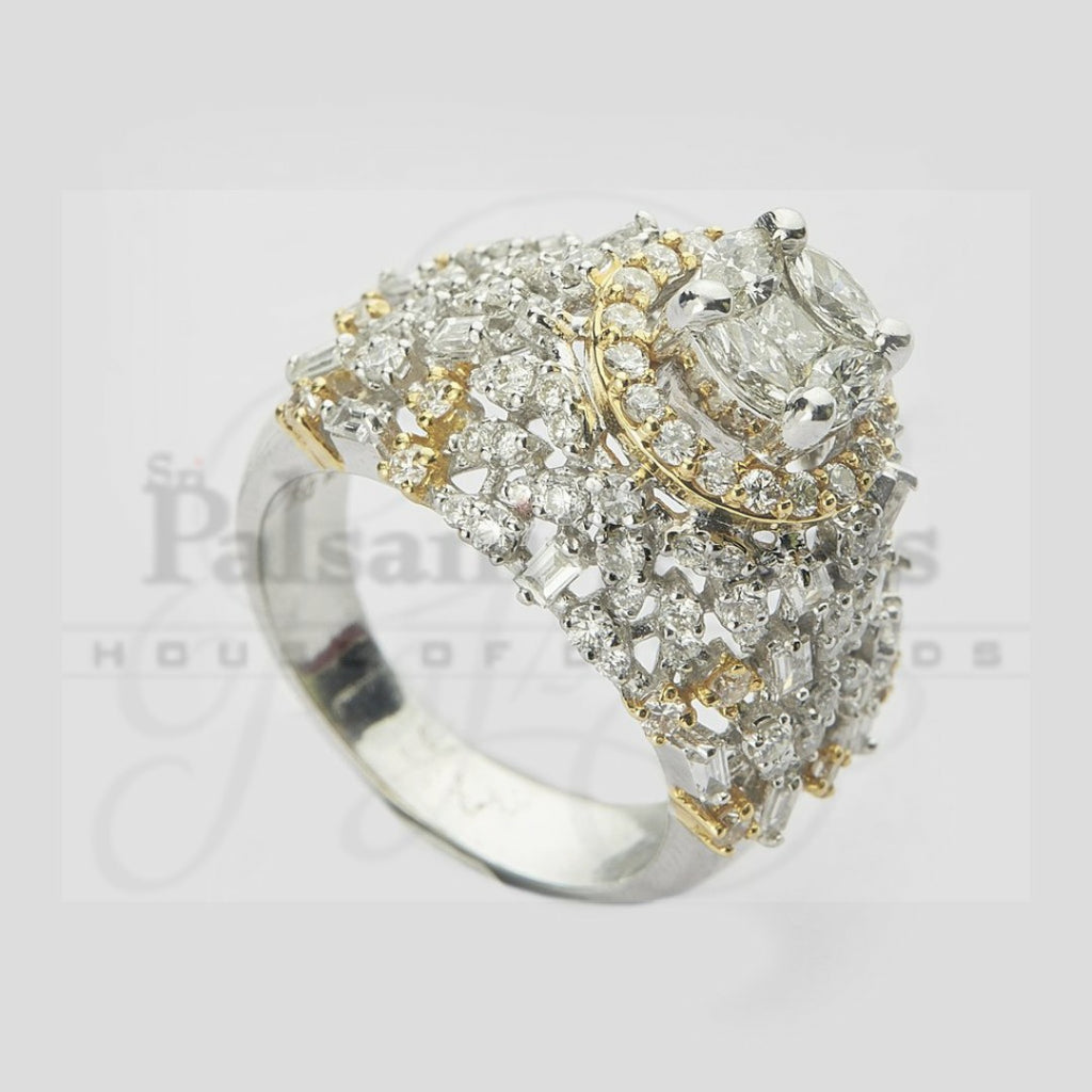 Chunky Dazzle Top Diamond Ring