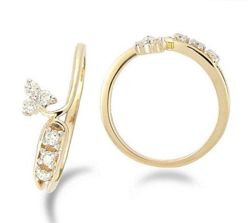Budding Flower Light Weight Diamond Ring