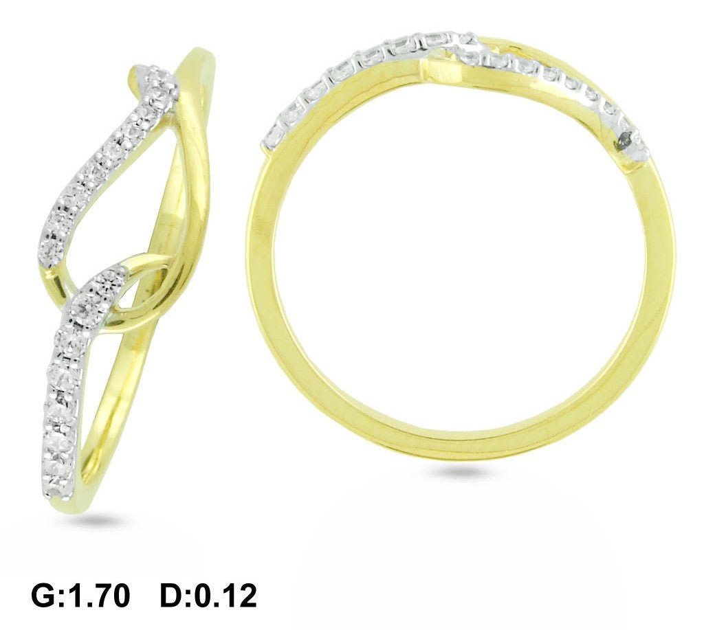Kida Curve Light Weight Diamond Ring