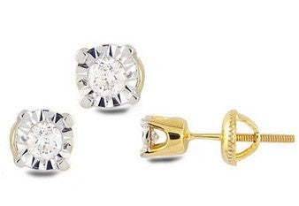 Shiny Circular Stone Light Weight Diamond Earrings