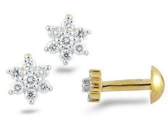 Floral Zang Light Weight Diamond Earrings