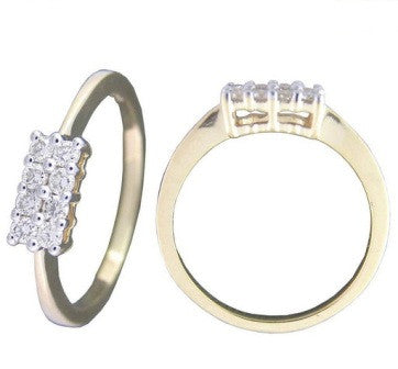 Perfect Rectangle Light Weight Diamond Ring