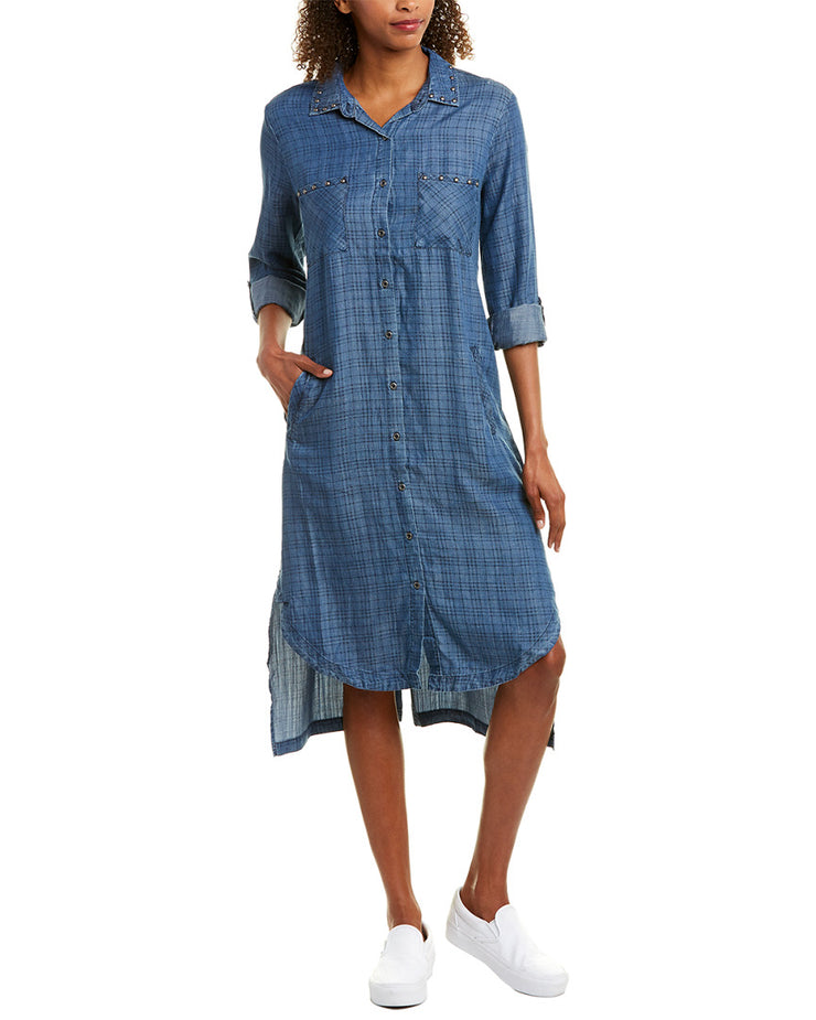 Billy T Button-Down Shirtdress