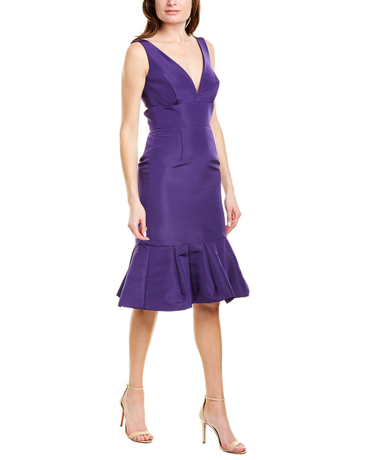 Oscar de la Renta Silk Cocktail Dress