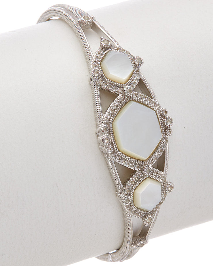 Judith Ripka Newport Silver Mother-of-Pearl Cuff