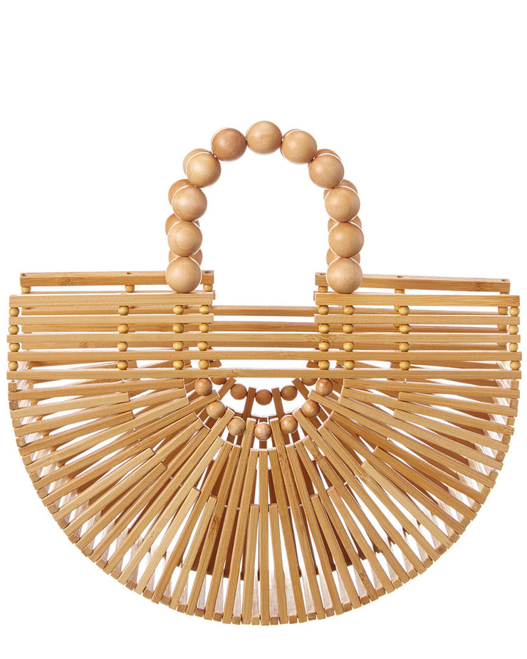 Cult Gaia Fan Ark Mini Bamboo Clutch