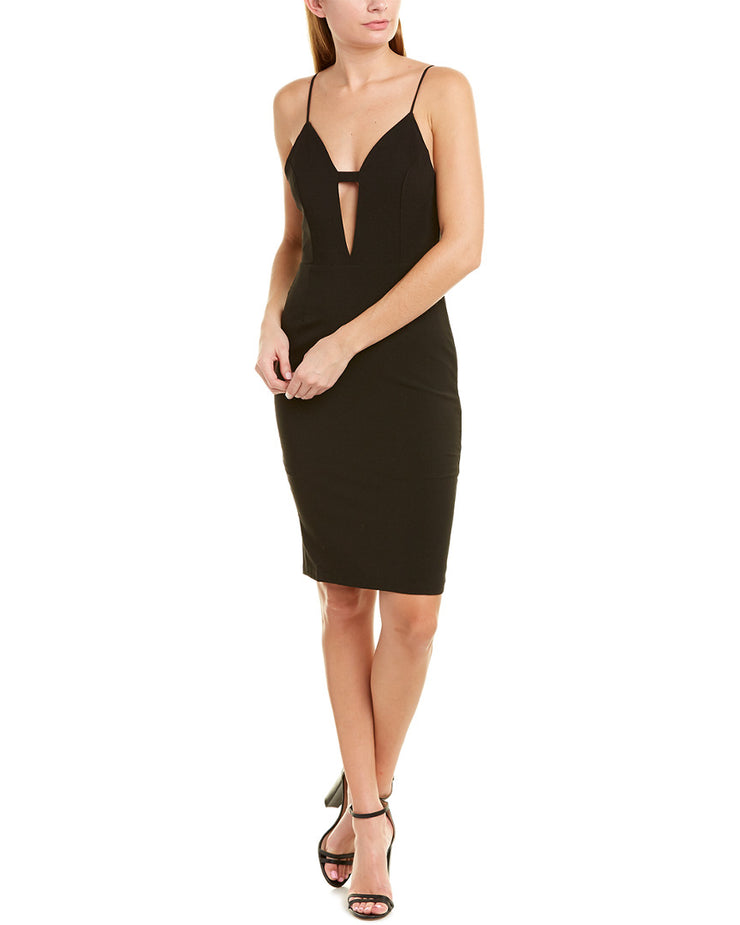 Krisa Deep V-Neck Sheath Dress