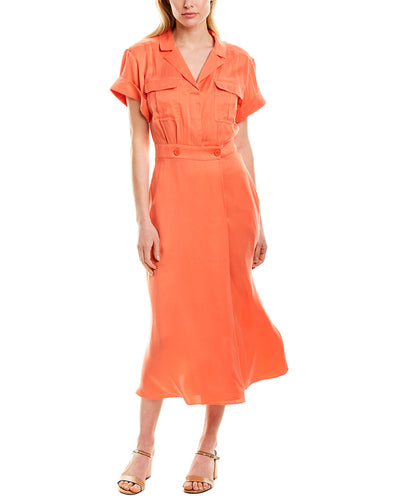 Equipment Orlenna Silk-Blend Shirtdress