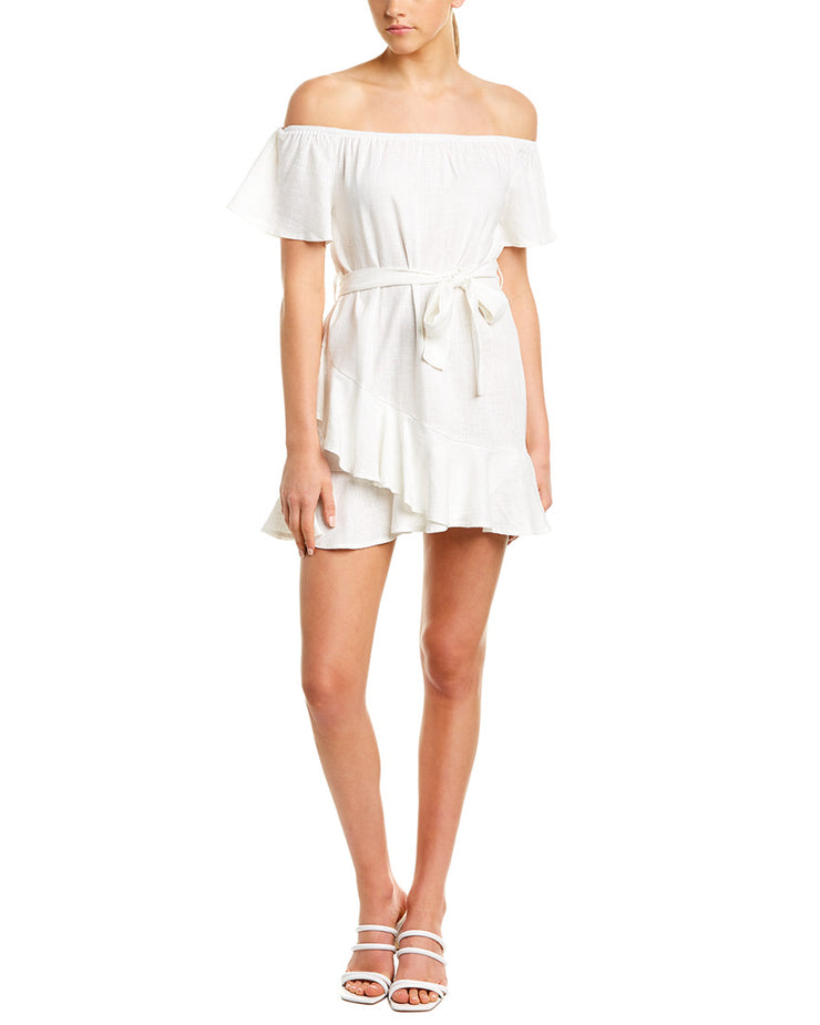 Sage the Label Beach Luxe Linen-Blend Shift Dress