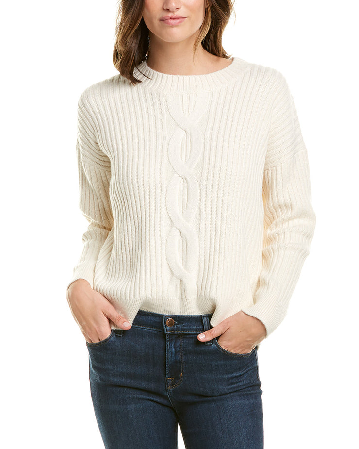 French Connection Patch Cable-Knit Sweater