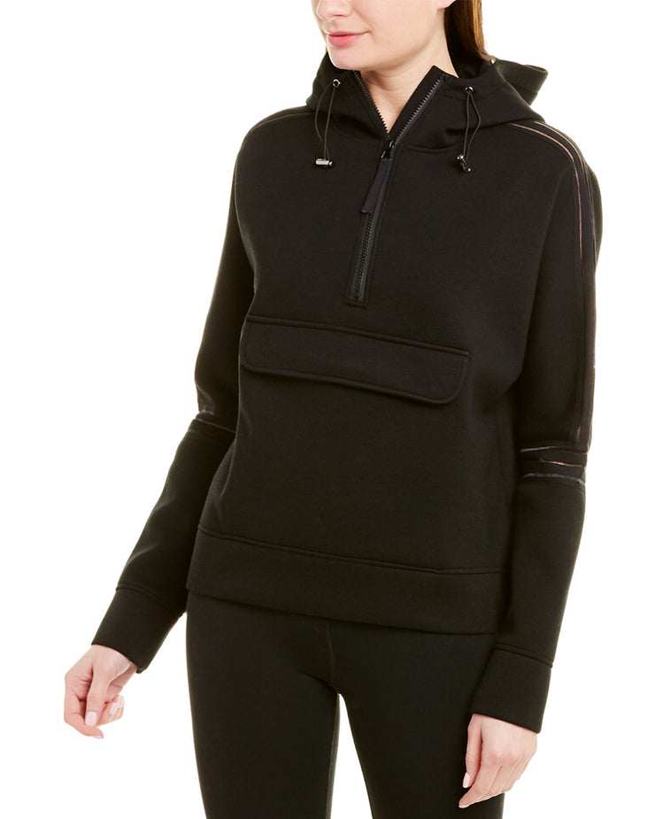 Betsey Johnson Clear Taping 1/2-Zip Pullover