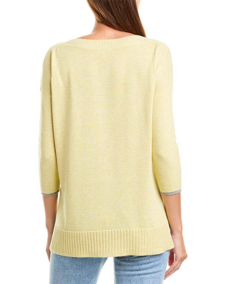Lilla P Slit Neck Sweater