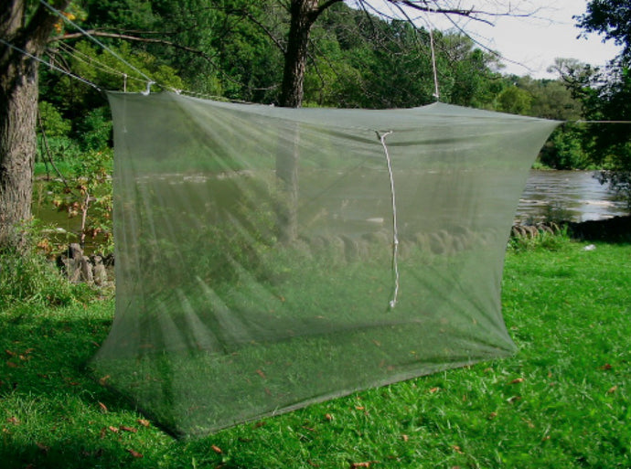 Item #144 -  Pest Net Large Single Size Mosquito Bar with Green No-see-um netting