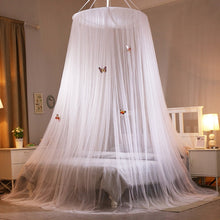 Load image into Gallery viewer, Large Hanging Mosquito Nets for Summer Girl Kids Bedding Round Dome Bed Canopy Curtain Bed Tent with Butterfly Decor Bedcover