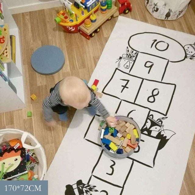Baby Game Play Mat Nordic Baby Hopscotch Mat Soft Crawling Rugs Kids Activity Play Gym Mats Room Decoration Floor Carpet