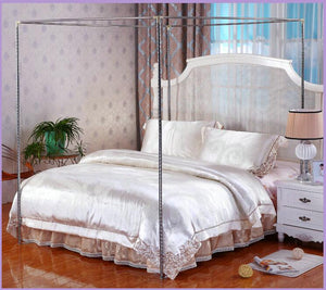 Item #255 Corner Post Bed Canopy Mosquito Netting Frame with no mosquito net