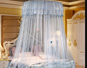 New Luxury Single-door Hung Dome Mosquito Net Large Space Insect Bed Canopy Netting Mesh Round Mosquito Nets Curtain For Bedding