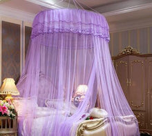 Load image into Gallery viewer, New Luxury Single-door Hung Dome Mosquito Net Large Space Insect Bed Canopy Netting Mesh Round Mosquito Nets Curtain For Bedding