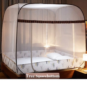 Portable Lightweight Mosquito Net No Bottom Easy Install Bed Net Insect Reject Large Space Yurt Mosquito Net For 1.5m 1.8m Bed