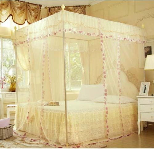 Item #254 - Palace 4 Corner Poster Bed Canopy Mosquito Net (No Frame)