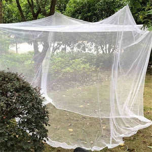 Item #253 Large White Canopy Mosquito Net 4 Corner Poster Bed Canopy