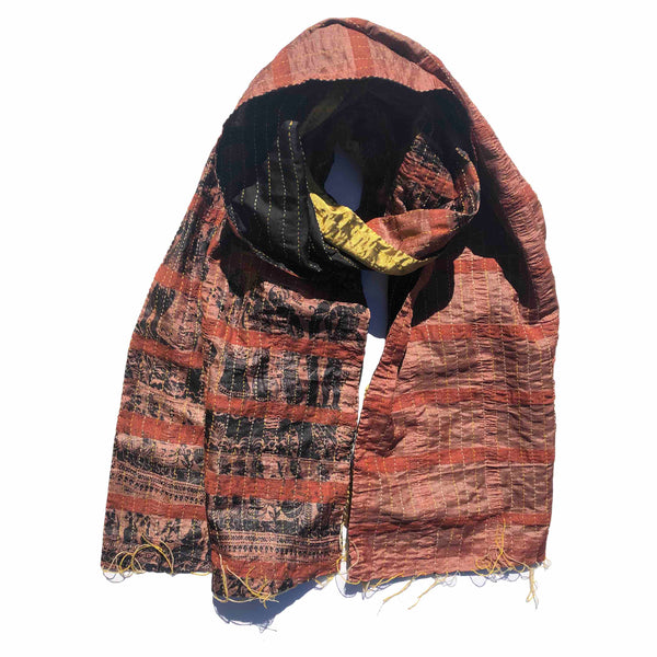 Brown Forest Kantha Scarf