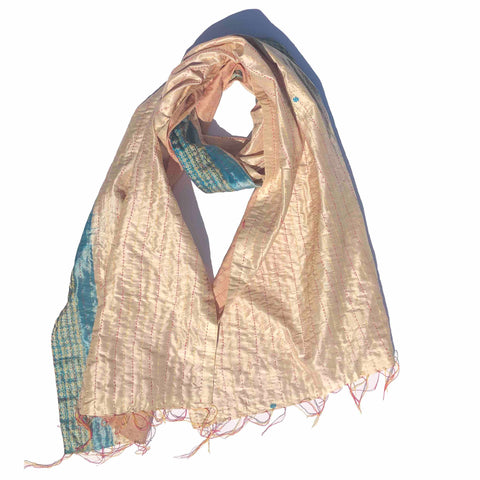 Clear Skies Kantha Scarf