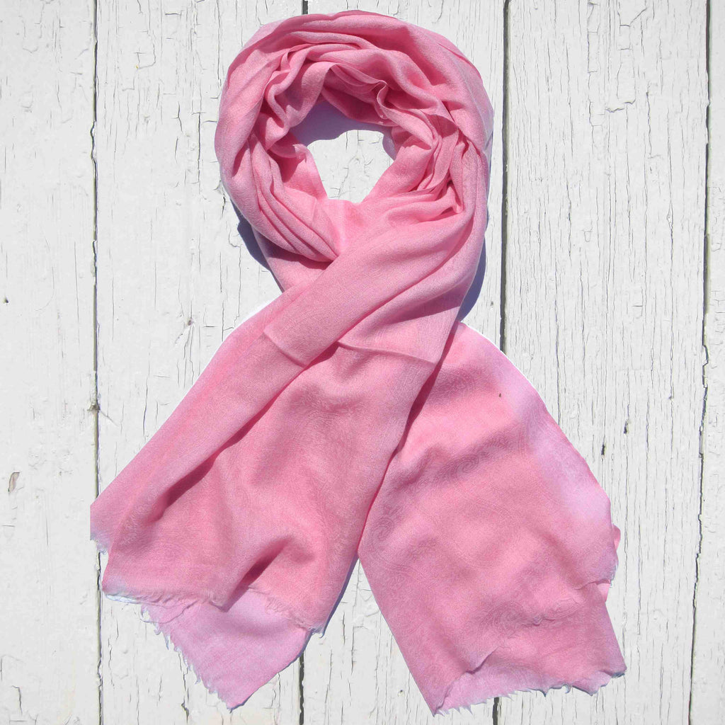 Pretty In Pink Silk Wool Scarf