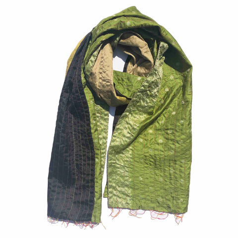 Lush Forest Kantha Scarf