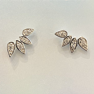 Teardrop Crawler Earrings
