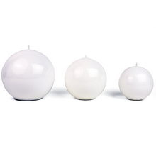 Load image into Gallery viewer, Meloria Candela Sfera Classic Candle - Bianco/White