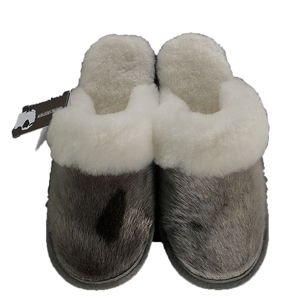 Ladies Sheepskin w/Seal Trim Slip On