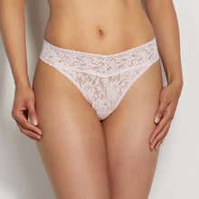 Load image into Gallery viewer, Signature Lace Original Rise Thong- Bliss Pink