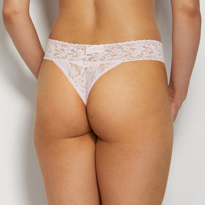 Signature Lace Original Rise Thong- Bliss Pink