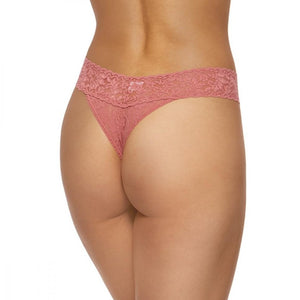 Signature Lace Original Rise Thong- Pink Sands