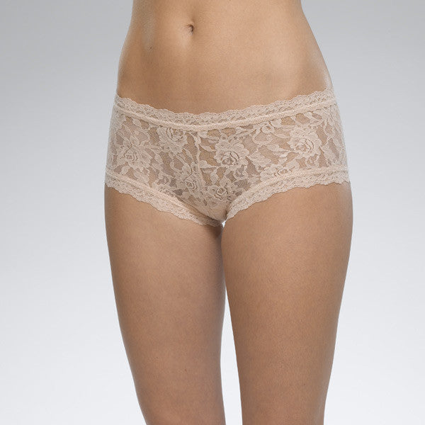 Signature Lace Boyshort- Chai
