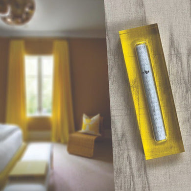 Small Mezuzah - Yellow