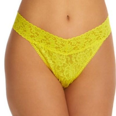 Signature Lace Original Rise Thong- Zest