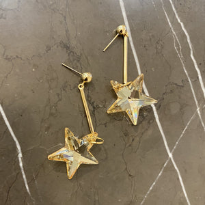 Golden Shadow Star Earrings