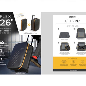 "Flex 26"" Foldable Carry-On Luggage"
