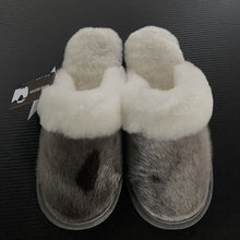 Load image into Gallery viewer, Ladies Sheepskin w/Seal Trim Slip Ons
