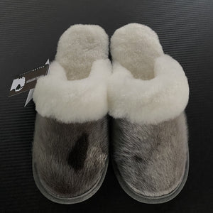 Ladies Sheepskin w/Seal Trim Slip Ons