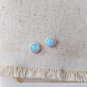 Braided Opal Earrings