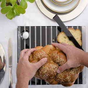 Challah Board Striped - Black