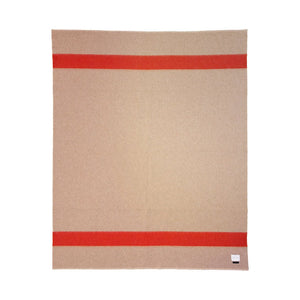 The Siempre Recycled Blanket- Sand | Red Stripe