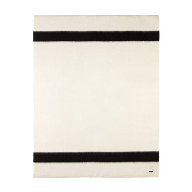 The Siempre Recycled Blanket- Ivory | Black Stripe